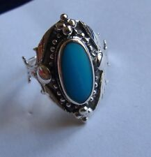 Ring 925 Sterling Silber, Türkis  - gestempelt