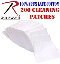 """200 Cotton Gun Cleaning Patches - Rothco 3"""" Dry Firearm Maintenance Patch Wipes"""
