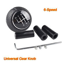 Universal Manual 6-Speed Gear Shift Knob Leather Shifter Lever Black UK STOCK