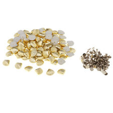 100 Sets Plastic Shell Shape Rapid Rivets Studs For DIY Findings Accessories