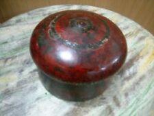 Original Antique beautiful Lacquer ( Chapdi Color ) Round wooden jewelery box