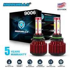 4-Sides 2000W 300000LM LED 9006 Headlight Kit Low Beam Bulbs 6000K High Power