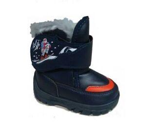 SIZE 3UK Renbut BOYS WINTER KIDS FUR SNOW BOOTS / SHOES - NEW! TODDLER