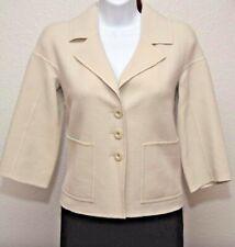 ST.JOHN Amazing Womens Light Gray Wool Jacket Sz 2