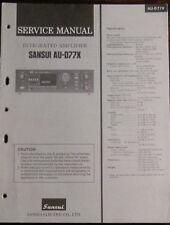 Sansui AU-D77X amplifier service repair workshop manual (original copy)
