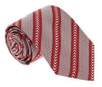 Missoni U5325 Red Micro Check 100% Silk Tie