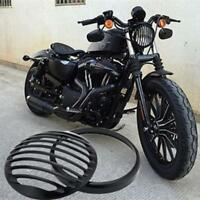Black Motorcycle Headlight Grill Cover For Harley Sportster XL883 1200 04-14