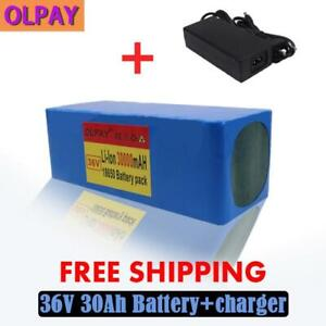 36v 30ah E-bike Li-ion Battery Volt Rechargeable Bicycle 1000w Electric+charger