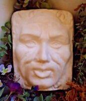 Garden face mold plaque concrete plaster man mould