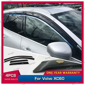 AUS Luxury Weather Shields Weathershields Window Visors for Volvo XC60 2017+ #T