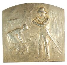 France farming harvesting AGRICULTURE AWARD silvered-bronze 54mm x 50mm