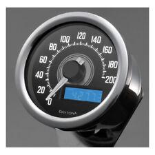 Velona Tacho 60mm, Edelstahl Beleuchtung weiß, bis 200 km/h, für Harley-Davidson
