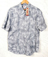 Levis Mens Size 2XL Short Sleeve Button Down Hawaiian Aloha Print Camp Shirt