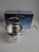 GODINGER SILVER PLATED CART CANDY DISH NEW