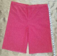 Vintage Red Women's Capris Shorts 50's 60's Poly Blend Fabric Salvage A38