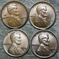 1909 VDB 1910 1913-D 1924 Lincoln Cent Wheat Penny  --- Nice Lot --- #D390