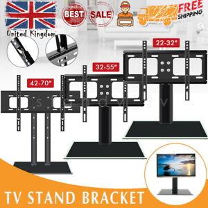 TV Stand Bracket Desk Top Monitor Table Mount VESA For 22-70 inch TV Universal