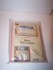 Nip new 1 pair Mesa Tier Curtain 60 In wide X 36 In long Hornick Usa style 500