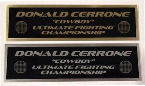 "Donald ""Cowboy"" Cerrone UFC nameplate for signed mma gloves photo case"