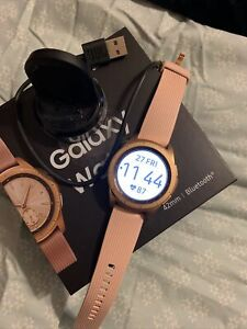 Samsung Galaxy 42mm Stainless Steel Case 200 Rose Gold Band Smartwatch...