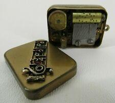 Antique small music box Swiss Made keychain pendant vintage Breitler