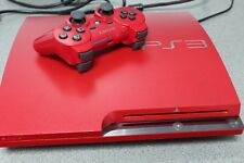 Sony PlayStation 3 Slim 320GB Scarlet Red Console Bundle - Rare - Free Delivery