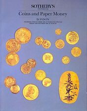 SOTHEBY'S Coins and Paper Money Auktionskatalog London 2nd & 3rd October 1986