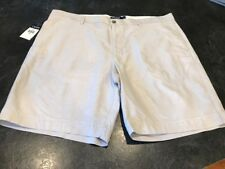 Mens Chaps Light Tan Gray Khaki Chino Shorts Size 42 - Nwt
