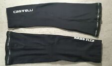 Mens Castelli Nano Flex Cycling Knee Warmers Medium M Road Cycling Black
