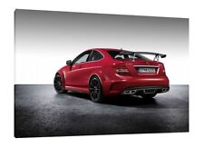 Mercedes C63 AMG Black Series 30x20 Inch Canvas Wall Art - Framed Picture