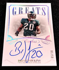 2019 Flawless Brian Dawkins Auto Silver GREATS On Card Autograph EAGLES #'d 5/10