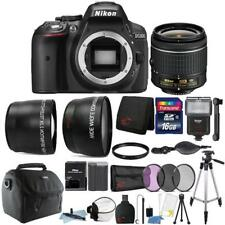 Nikon D5300 24.2MP DSLR Camera 18-55mm Lens + Zoom Flash + Top Accessory Bundle
