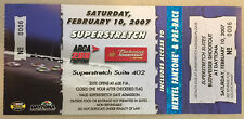 2007 DAYTONA FULL Ticket Budweiser Shootout - Tony Stewart Winner + ARCA 200 🏁