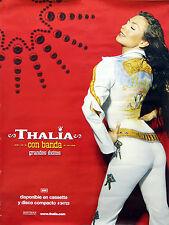 Thalia con Banda 2001 Grandes Exitos Original Small Promo Poster