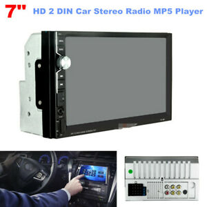 """2 DIN 7"""" HD Car Stereo Radio MP5 Player Bluetooth Touch Screen USB Video Audio"""