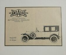 Pubblicità 1925 ANSALDO AUTO COUPE' CAR TORINO old advertising publicitè werbung