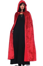 """Brand New 55"""" Hooded Cloak Adult Halloween Costume Accessory (Red)"""
