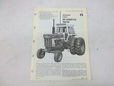 International Harvester Farmall 966 Hydrostatic Tractor Sales Brochure