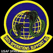 USAF 582nd OPERATIONS SUPPORT SQUADRON -F.E. Warren AFB, WY- ORIGINAL VEL PATCH