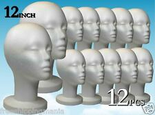 WIG STYROFOAM HEAD FOAM MANNEQUIN DISPLAY 12