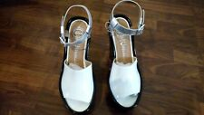 White and Silver Jeffrey Campbell Sandals