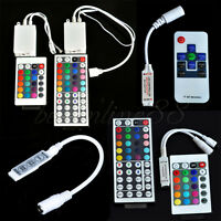 For 3528 5050 RGB LED Strip Light Mini 3/24/44 Key IR Remote Wireless Controller