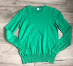 J Crew Crewcuts Sweater Kids Boy's Crewneck Cotton Wool Green NWOT Size 12