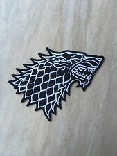 "House Stark Direwolf Wolf PATCH - 5"" Embroidered Iron-On - Game Of Thrones Patch"