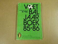 POCKET BOEK / VOETBAL JAARBOEK 85-86
