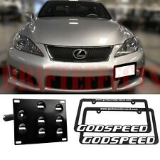 FOR LEXUS IS-F ISF V8 JDM STYLE LICENSE PLATE HOLDER MOUNT KIT TOW BRACKET+FRAME