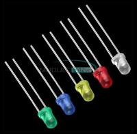 100/500/1000PCS 3mm White/Green/Red/Blue/Yellow LED Light Bulb Emitting Diode