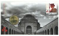 Australia 2018 War Memorials Lest We Forget Centenary $1 Coin & Stamp PNC Cover