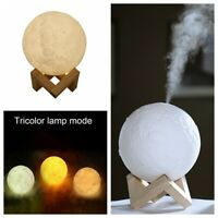 880mL Air Humidifier 3D Moon Night Light Aroma Essential Oil Diffuser Purifier