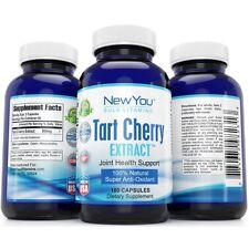 Tart Cherry Extract Capsules 900mg 100% Pure Natural Anti-Inflammatory